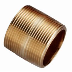 Merit Brass 2020-001 Pipe Nipple, 1-1/4 in x Closed L MNPT, Brass, SCH 40/STD, Seamless, Domestic