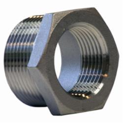 Merit Brass K414-1208 Hex Head Pipe Bushing, 3/4 x 1/2 in, MNPT x FNPT, 150 lb, 304/304L Stainless Steel, Import