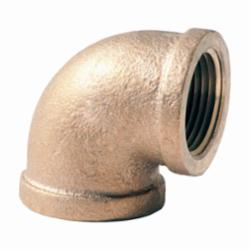 Merit Brass XNL101-20 90 deg Pipe Elbow, 1-1/4 in, FNPT, 125 lb, Brass, Rough, Import