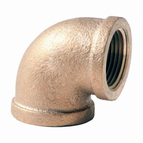 Merit Brass XNL101-08 90 deg Pipe Elbow, 1/2 in, FNPT, 125 lb, Brass, Rough, Import