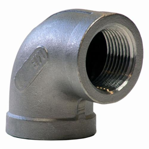 Merit Brass K401-16 Banded 90 deg Pipe Elbow, 1 in, FNPT, 150 lb, 304/304L Stainless Steel, Import