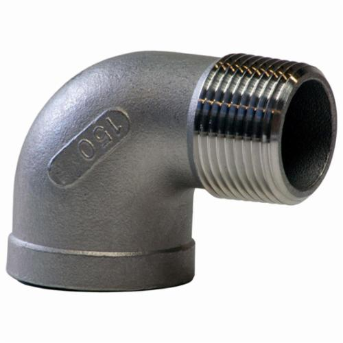 Merit Brass K403-12 90 deg Street Elbow, 3/4 in, FNPT x MNPT, 150 lb, 304/304L Stainless Steel, Import