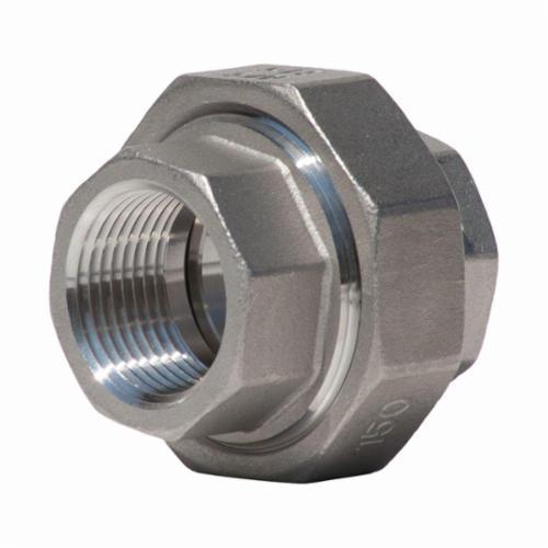 Merit Brass K687-08 Pipe Union, 1/2 in, FNPT, 150 lb, 316/316L Stainless Steel, Import