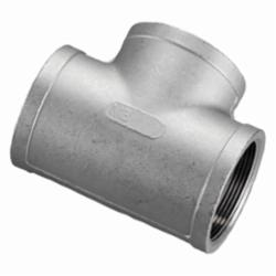 Merit Brass K406-20 Banded Pipe Tee, 1-1/4 in, FNPT, 150 lb, 304/304L Stainless Steel, Import