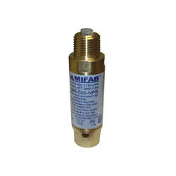 MIFAB® M2-500-NPB M-500 Automatic Trap Seal Primer, 1/2 in, 4-1/8 in L, MNPT x FNPT, Brass