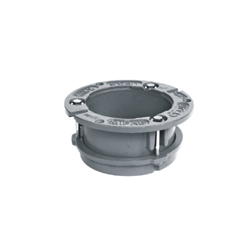 MIFAB® CF44DTC Deep Closet Flange With Test Cap, 4 in ID x 4 in OD, Cast Iron