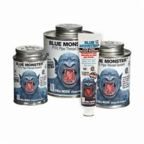 Cleanfit Blue Monster® 76011 Heavy Duty Industrial Grade Thread Sealant, 0.5 pt Can, Paste, Blue, 1.41
