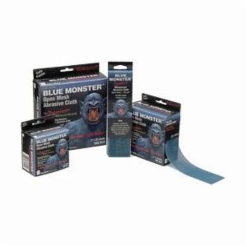Cleanfit Blue Monster® 70154 Premium Abrasive Cloth, 2 in W x 10 yd L, 165 Grit, Aluminum Oxide Abrasive