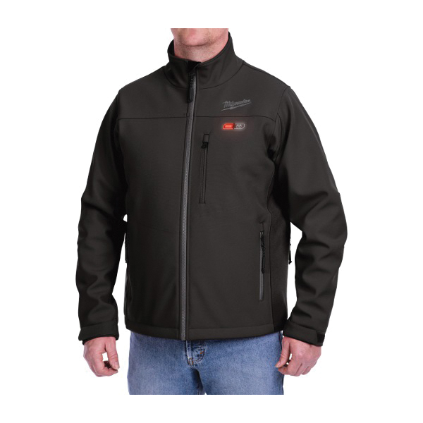 Milwaukee® M12™ 201B-21 Heated Jacket Kit, XL, M, Black, Brushed Tricot/Polyester