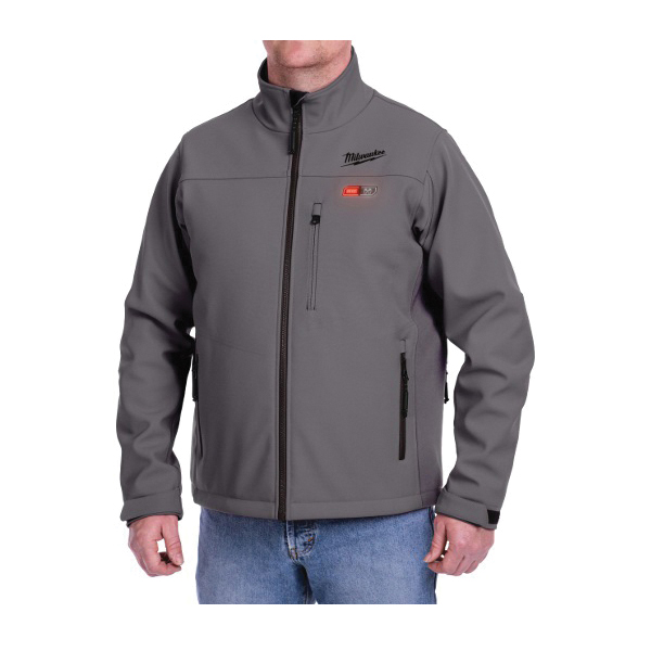 Milwaukee® M12™ 201G-21L Heated Jacket Kit, L, M, Gray, Brushed Tricot/Polyester