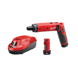 Milwaukee® 2101-22 M4™ Cordless Screwdriver Kit, 1/4 in Chuck, 44 in-lb, 4 VDC, Lithium-Ion Battery, Plastic Housing
