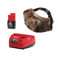 Milwaukee® 2321-21 M12™ Cordless Insulated Heated Hand Warmer Kit, Universal, Unisex, Realtree Xtra® Camouflage, Thermal Knit Fleece Inner/Wind Resistant Polyester Outer
