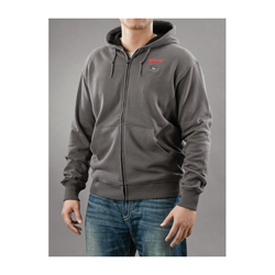 Milwaukee® 2369-XL M12™ Heated Hoodie Kit, XL, Men's, Gray, Polyester Blend Inner/Cotton/Polyester Blend Outer/Waffle Weave Cotton