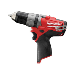Milwaukee® 2404-20 M12 FUEL™ Cordless Hammer Drill/Driver, 1/2 in Metal Single Sleeve Ratcheting Lock Chuck, 350 in-lb Torque, 12 VDC, Lithium-Ion Battery