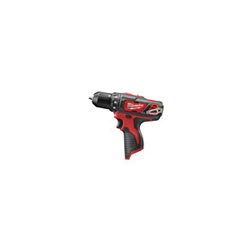 Milwaukee® 2407-20 M12™ Compact Lightweight Cordless Drill/Driver, 3/8 in Keyless/Single Sleeve Ratcheting Lock Chuck, 275 in-lb Torque, 12 VDC, Lithium-Ion Battery