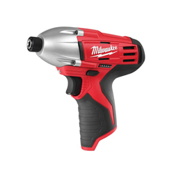 Milwaukee® 2450-20 M12™ Lightweight Cordless Impact Driver, 1/4 in Hex Drive, 0 to 3000 ipm, 850 in-lb Torque, 12 V