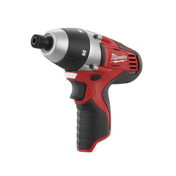 Milwaukee® 2455-20 M12™ Compact Lightweight Cordless Driver, 1/4 in Hex/Keyless Chuck, 60/80 in-lb Torque, 12 VDC, Lithium-Ion Battery