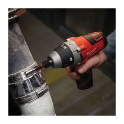 Milwaukee® 2455-22 M12™ Compact Lightweight Cordless Driver Kit, 1/4 in Hex/Keyless Chuck, 60/80 in-lb Torque, 12 VDC, Lithium-Ion Battery
