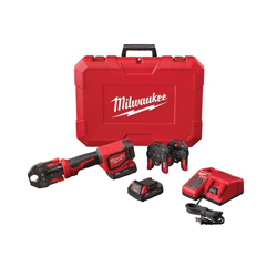Milwaukee® M18™ 2674-22C Press Tool Kit With PEX Crimp Jaws, Up to 1 in, 18 VDC, M12™ Redlithium™ Lithium-ion Battery