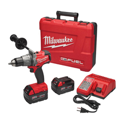 Milwaukee® 2704-22 M18 FUEL™ Cordless Hammer Drill/Driver Kit, 1/2 in Keyless Chuck, 1200 in-lb Torque, 18 VDC, Lithium-Ion Battery