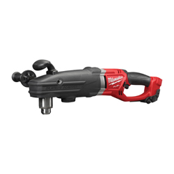Milwaukee® SUPER HAWG™ 2709-20 M18™ FUEL™ Cordless Right Angle Drill, 1/2 in Keyed Chuck, 18 VDC, 0 to 350/0 to 950 rpm No-Load, 22 in OAL, Lithium-Ion Battery, Bare Tool