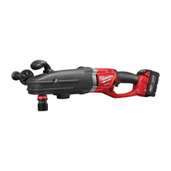 Milwaukee® SUPER HAWG™ 2711-22 M18™ FUEL™ Hex Cordless Right Angle Drill Kit, 7/16 in Keyless/QUIK-LOK™ Chuck, 18 VDC, 0 to 350/0 to 950 rpm No-Load, 22 in OAL, Lithium-Ion Battery