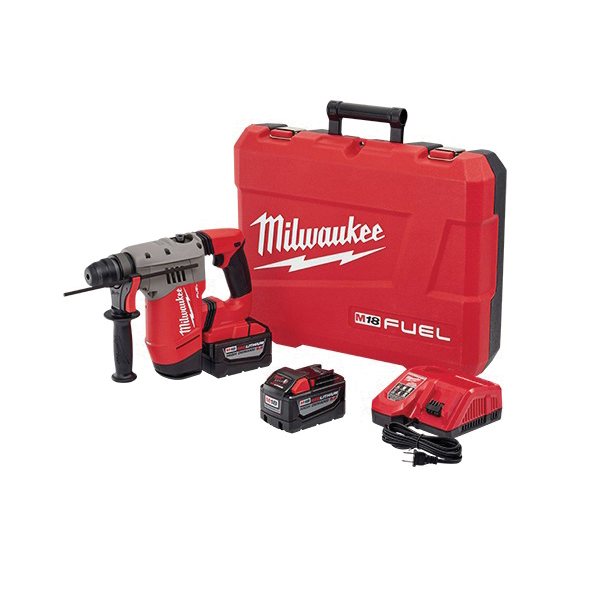 Milwaukee® M18 FUEL™ 2715-22HD Cordless Rotary Hammer Kit, 1-1/8 in SDS Plus Chuck, 18 VDC, 0 to 1350 rpm No-Load, M18™ REDLITHIUM™ Lithium-Ion Battery