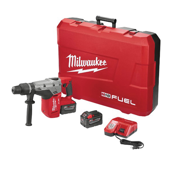 Milwaukee® M18 FUEL™ 2717-22HD Cordless Rotary Hammer Kit, 1-9/16 in SDS Max Chuck, 18 VDC, 0 to 3000 rpm No-Load, M18™ REDLITHIUM™ Lithium-Ion Battery