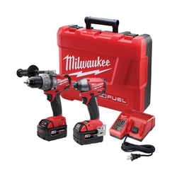 Milwaukee® M18 FUEL™ Cordless Combination Kit, 8 Pieces, Metal, Red/Black