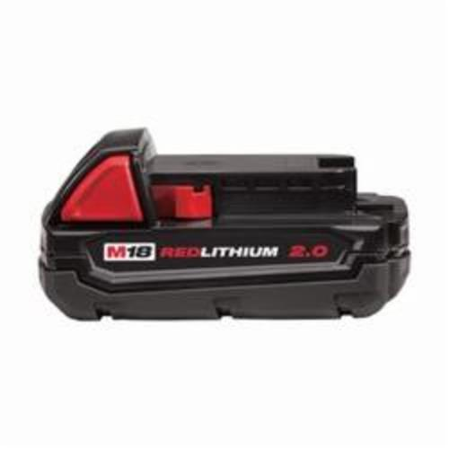 Milwaukee® 48-11-1820 M18™ REDLITHIUM™ Compact Rechargeable Cordless Battery Pack, 2 Ah Lithium-Ion Battery, 18 VDC, For Use With Milwaukee® M18™ Cordless Power Tool