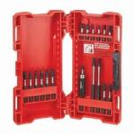 Milwaukee® 48-32-4403 SHOCKWAVE™ 18-Piece Driver Bit Set, #1, #2, #3, 3/16 IN, T15, T20 Phillips®/Square Slotted/Torx® Point, 1 in, 2 in, 3-1/2 in OAL, 1/4 in, Steel
