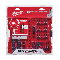 Milwaukee® Shockwave™ 48-32-4408 Drive and Fasten Set, 26 Pieces