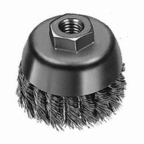 Milwaukee® 48-52-5067 Cup Brush, 3-1/2 in Dia, 5/8-11, 0.02 to 0.023 in Carbon Steel Knot Wire