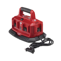 Milwaukee® 48-59-1806 M18™ 6-Pack Sequential Charger, For Use With Milwaukee M18™ Battery, Lithium-Ion Battery, 1/2 to 1 hr Charging Time, 6 Batteries, Bare Tool
