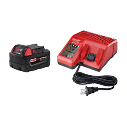 Milwaukee® 48-59-1850 M18™ Battery Starter Kit, 5 Ah, 18 VDC, For Use With M18™ XC™ 5.0 Battery For Use With All Milwaukee M18™ Tools, M18™ and M12 Multi Voltage Charger For Use With All M18™ and M12 Battery Packs