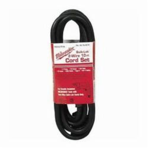 Milwaukee® QUIK-LOK™ 48-76-5010 2-Wire Extension Cord, 125 VAC, 13 A, 16 AWG, NEMA 1-15P