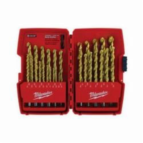 Milwaukee® 48-89-0012 Thunderbolt® Drill Set, 29 Pieces, HSS, Titanium Coated