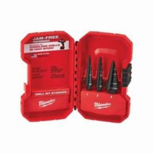 Milwaukee® 48-89-9221 Step Drill Set, 3 Pieces, HSS, Black Oxide