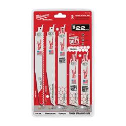 Milwaukee® 49-22-1105 SAWZALL® Demolition Blade Set, 6 in, 9 in L x 6.9 in W, 5/8/14/18 TPI, Bi-Metal Body