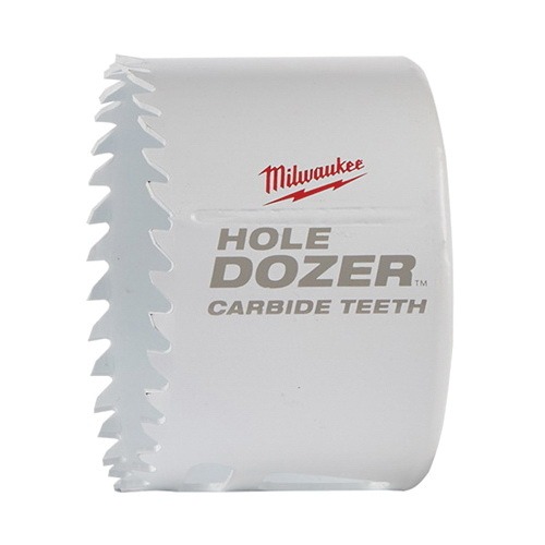 Milwaukee® Hole Dozer™ 49-56-0729 Hole Saw With Carbide Teeth, 2-5/8 in Dia, 1.62 in D Cutting, 7/16 in Arbor