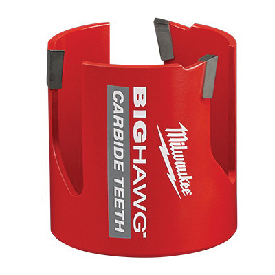 Milwaukee® BIG HAWG™ 49-56-9220 Hole Saw With Carbide Teeth, 2-9/16 in Dia, 2-7/16 in D Cutting, 7/16 in Arbor