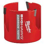Milwaukee® BIG HAWG™ 49-56-9230 Hole Saw With Carbide Teeth, 3 in Dia, 2-7/16 in D Cutting, 7/16 in Arbor