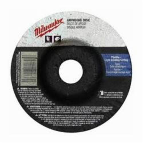 Milwaukee® 49-94-4510 Type 27 Reinforced Grinding Disc, 4-1/2 in Dia x 1/8 in THK, 7/8 in, A30S Grit, Aluminum Oxide Abrasive
