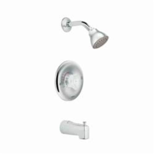 Superbe Moen® 2363 Chateau® Tub And Shower Faucet Trim, 2.5 Gpm, Chrome Plated