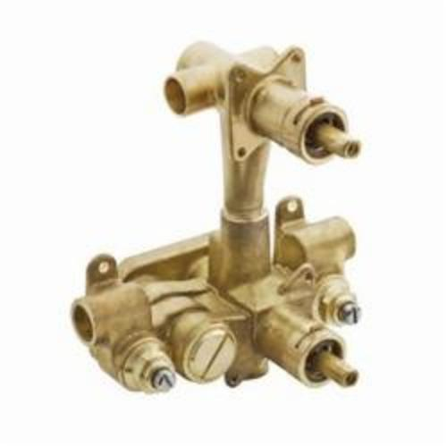 Moen® 3330 M-Pact® Rough-In Valve, 1/2 in C Inlet x 1/2 in C Outlet, Brass Body, Domestic