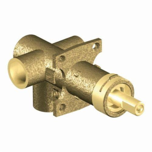 Moen® 3372 3-Function Transfer Valve, 1/2 in C Inlet x 1/2 in C Outlet, Brass Body, Domestic