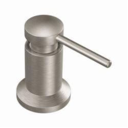Moen® 3942SRS Soap Dispenser, 18 oz Bottle, Deck Mount, Metal, Import