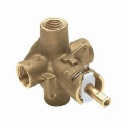 Moen® 62300 M-Pact® Rough-In Valve, 1/2 in IPS Inlet x 1/2 in IPS Outlet, Brass Body, Domestic
