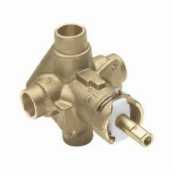 Moen® 62320 M-Pact® Rough-In Valve, 1/2 in C Inlet x 1/2 in C Outlet, Brass Body, Domestic