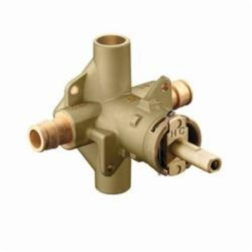 Moen® 62365 M-Pact® Rough-In Valve, 1/2 in Cold Expansion PEX Inlet x 1/2 in Cold Expansion PEX Outlet, Brass Body, Domestic